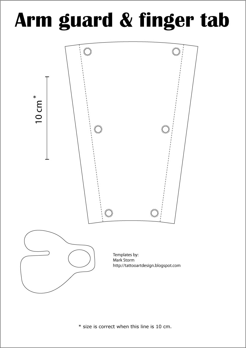 Arm Guard And Finger Tab