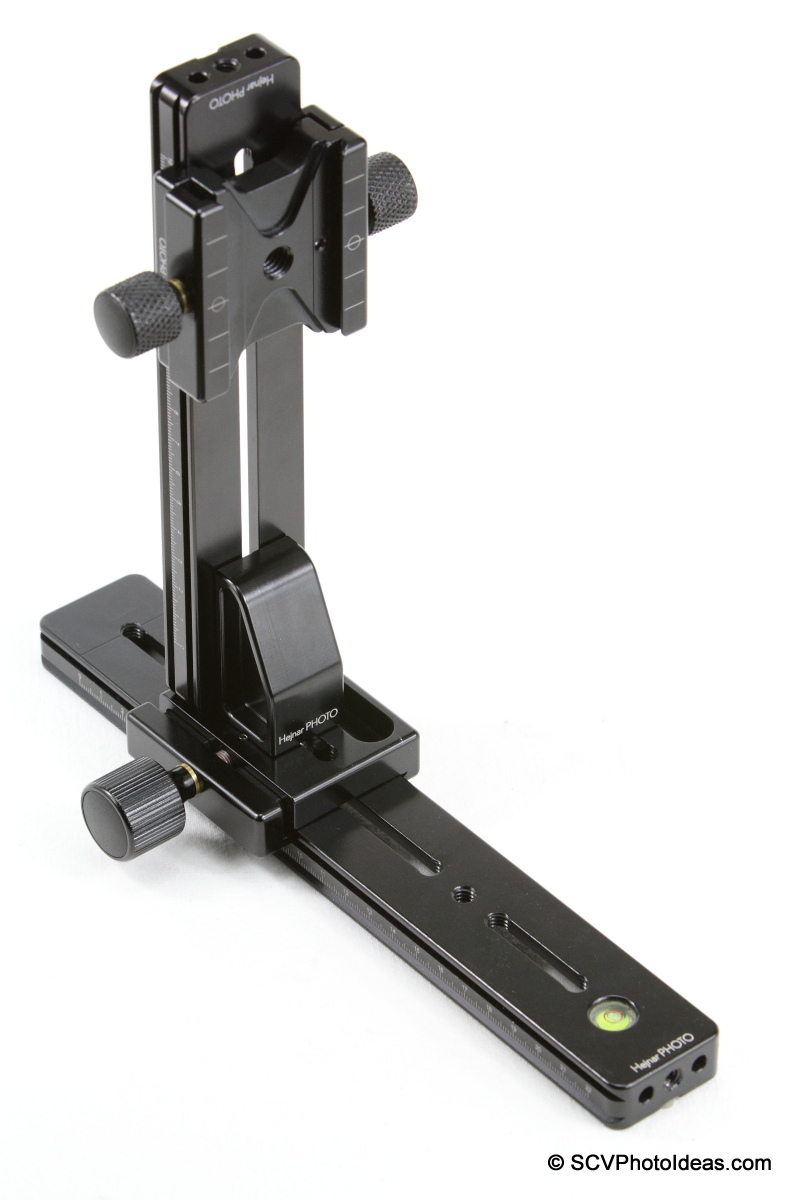 Hejnar PHOTO G21-80 based Vertical Rail combo + F51 dual clamp on G20-10 Hor rail
