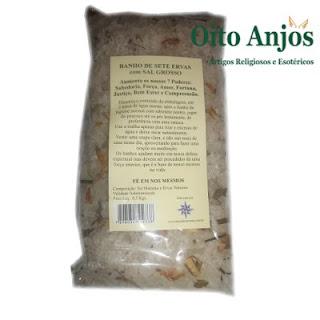 Banho 7 ervas sal grosso