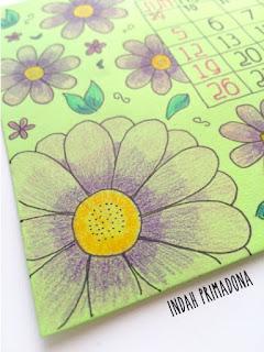 april calendar, april, diy calendar, buat kalender