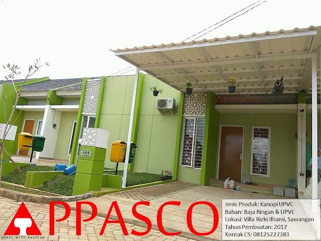 Kanopi Minimalis Modern Atap UPVC