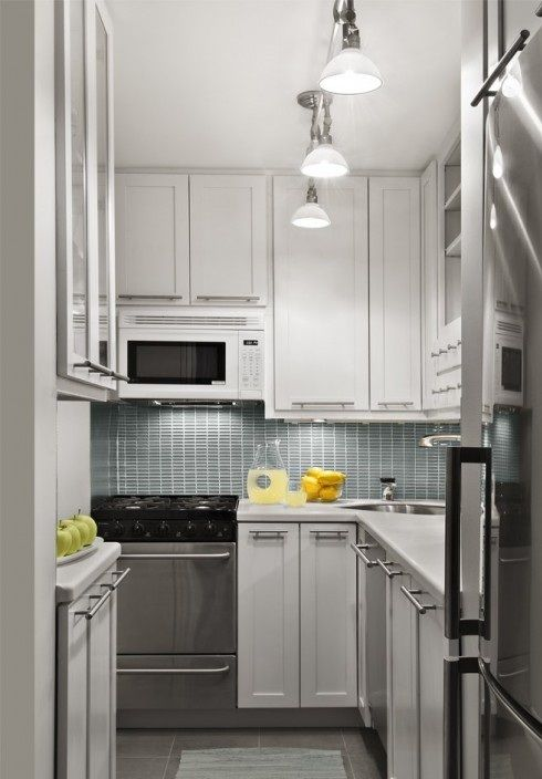 20 Lindas Cocinas Modernas Pequenas Colores En Casa - Iluminacion-en-cocinas-modernas