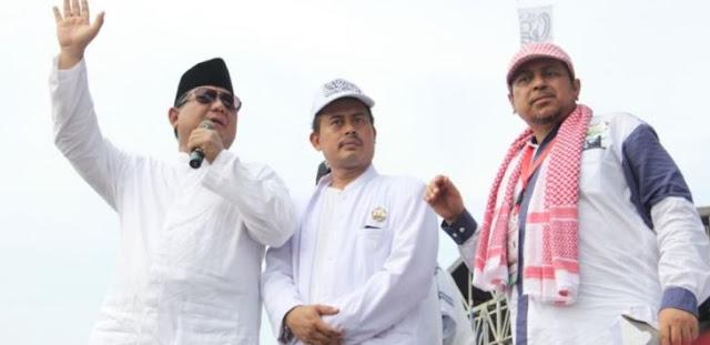 """Ustad Haikal Hasan Cerita, """"daripada Panggung Roboh, Akhirnya Prabowo Pidato di Reuni 212"""""""