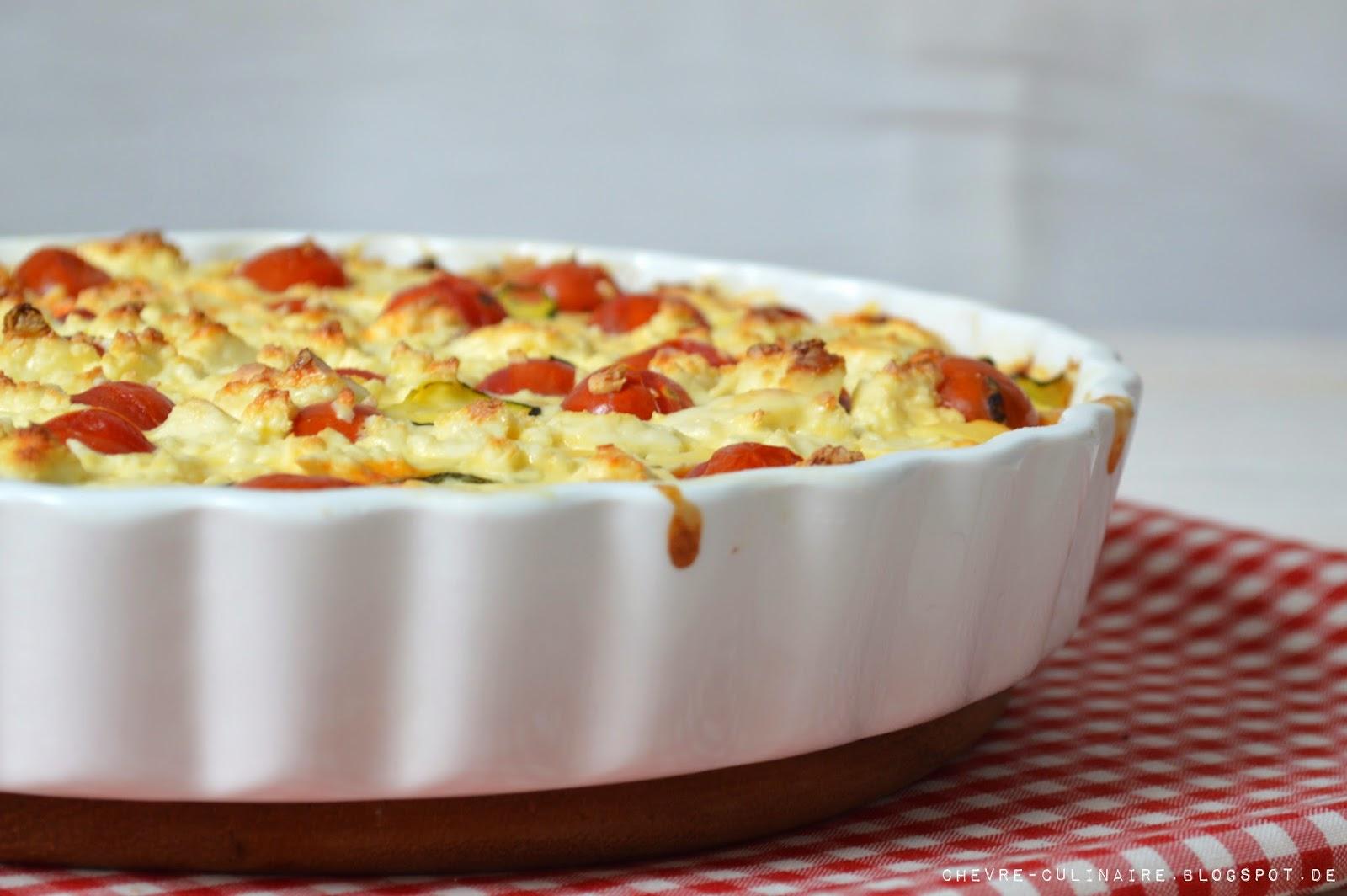 Chevre Culinaire Zucchini Tomaten Quiche Mit Feta Oder Die