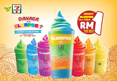 7-Eleven Malaysia Slurpee RM1 Weekend Discount Promo