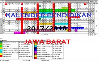 Kalender Pendidikan 2017/ 2018 Jawa Barat