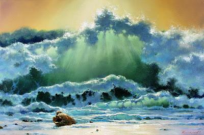Sulu boya tablo manzara