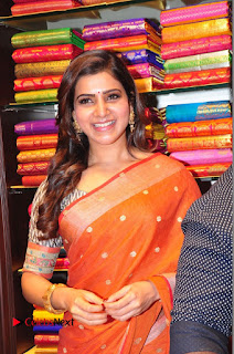 Actress Samantha Pictures in Saree at South India Shoping Mall Launch 0334