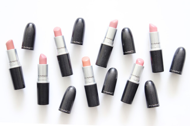 My MAC Nude Lipstick Collection with swatches