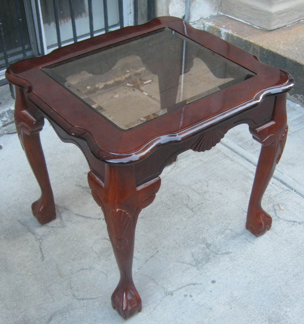 Uhuru Furniture & Collectibles: Two End Tables With Ball