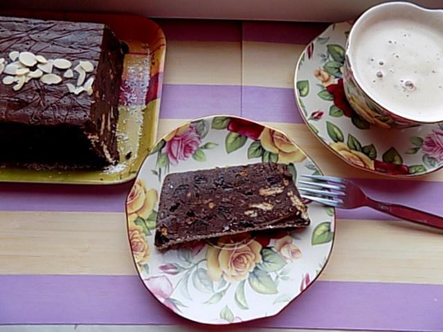 Blok czekoladowy bez cukru po małej renowacji.