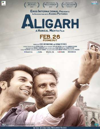 Poster Of Aligarh 2016 Hindi 700MB DVDScr HEVC x265 Free Download Watch Online