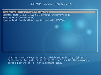 Mengubah GRUB Linux dengan Gambar