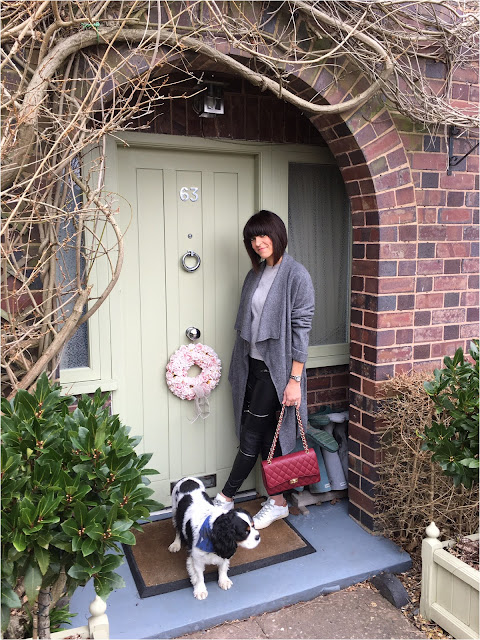 My Midlife Fashion, Zara wool draped belted coat, marks and spencer pure cashmere crew neck jumper, zara biker trousers, golden goose trainers ladies quilted handbag