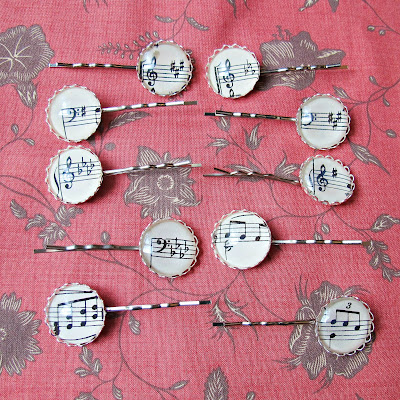 image hair pins accessories bobby pins music sheet musician two cheeky monkeys etsy