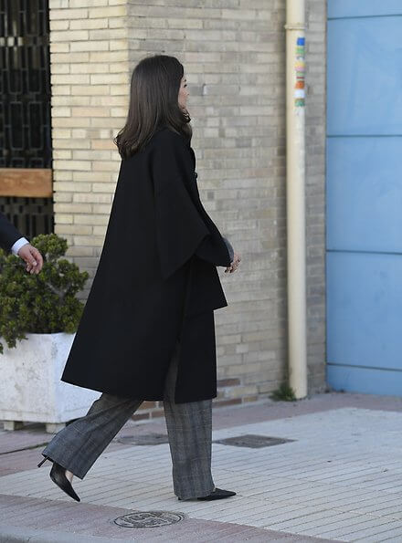 Queen Letizia attended a working meeting with UNICEF, Letizia wore Hugo Boss prince of wales print suit