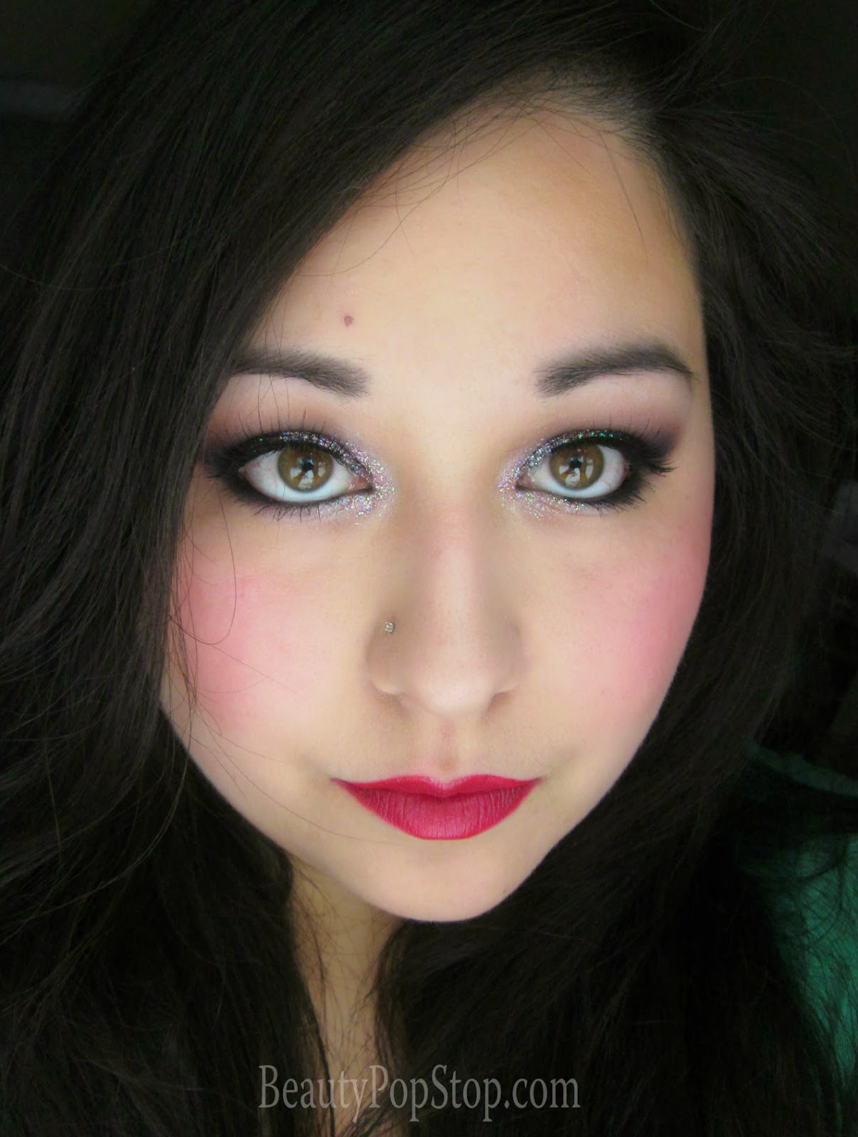 rouge bunny rouge time defying foundation quinoa cream new years eve look using lit cosmetics glitter