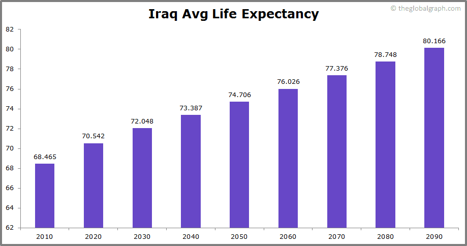 Iraq  Avg Life Expectancy