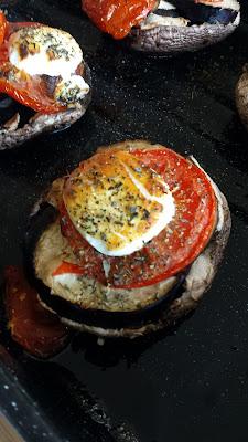 vegetarische portobello uit de oven