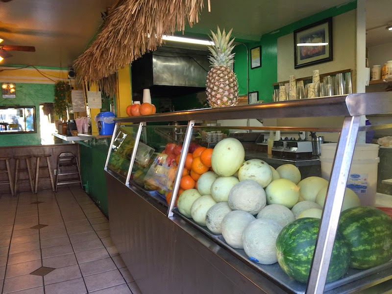 Fresh fruit on display at Señor Mango's