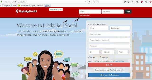 Linda Ikeji Social, website sosial media milik Linda Ikeji