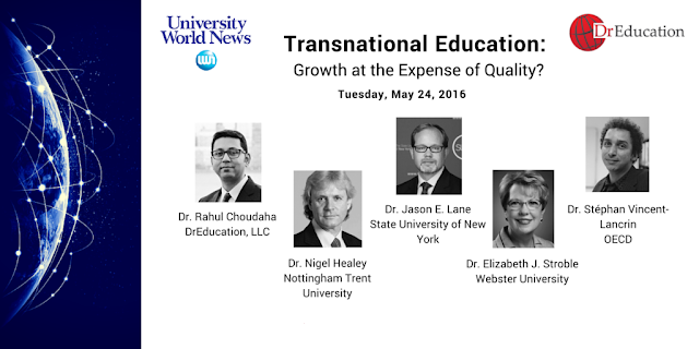 Global Online webinar on higher education strategies Rahul Choudaha