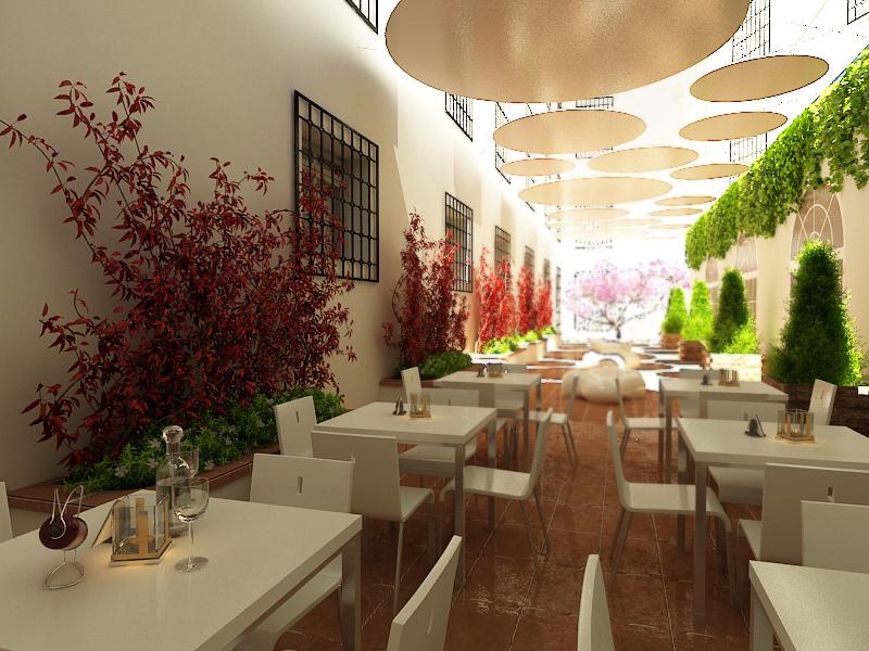 3d Hotel Design Diseño De Terraza Para Zona Exterior De Hotel