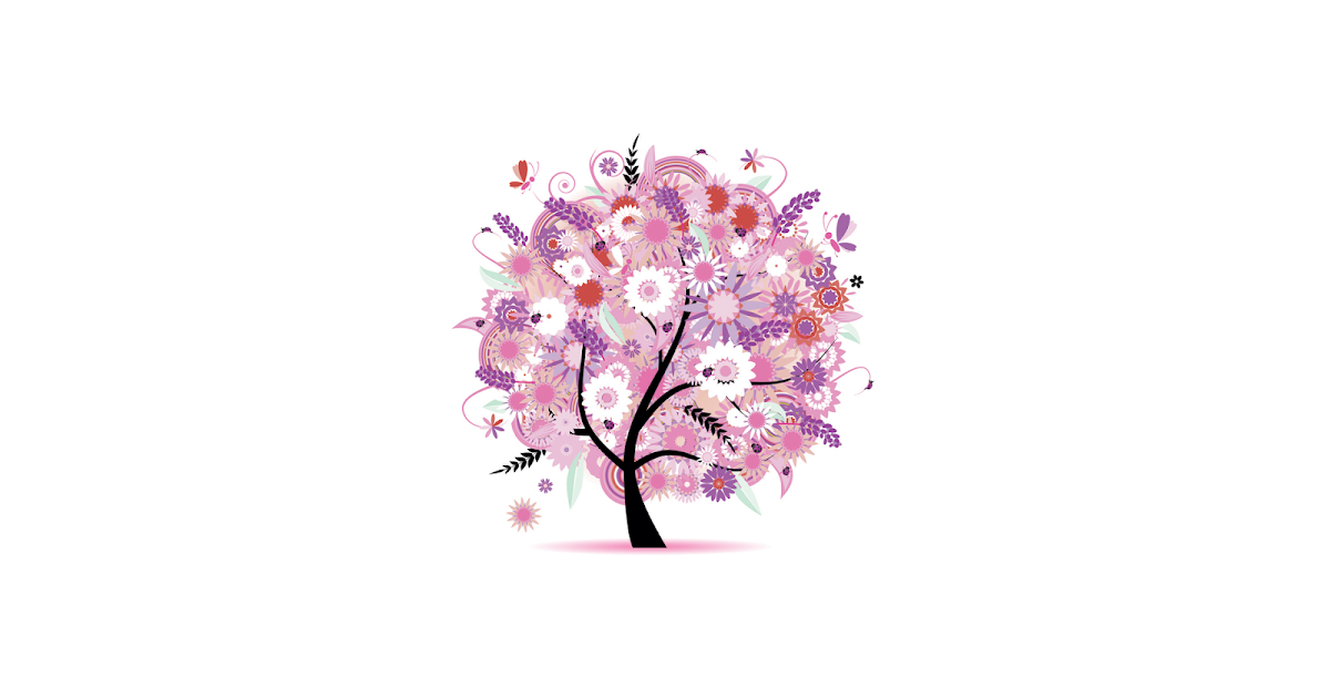 wei er wallpaper mit rosa baum hd hintergrundbilder. Black Bedroom Furniture Sets. Home Design Ideas