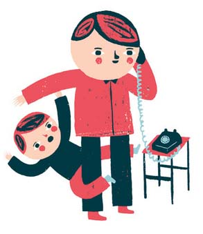 Son & Dad - Getting Control of a Talkative Class - HeidiSongs