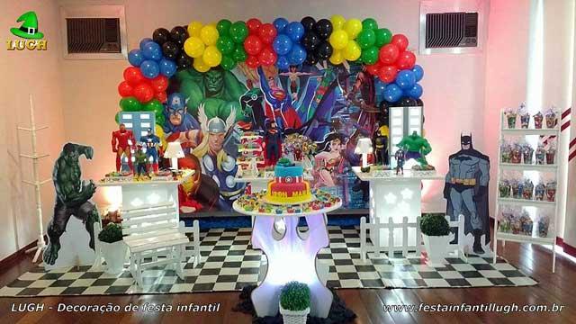 Decoração festa de aniversário infantil tema dos Super Heróis - Decoração provençal