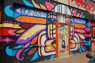 Sunday Street Art : dAcRuZ - Fresque à la porte -  rue de l'Ourcq - Paris 19