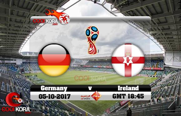 مشاهدة مباراة إيرلندا الشمالية وألمانيا اليوم 5-10-2017 تصفيات كأس العالم