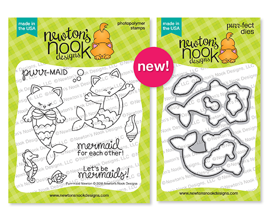 Purr-maid Newton Stamp and Die Sets by Newton's Nook Designs #newtonsnook