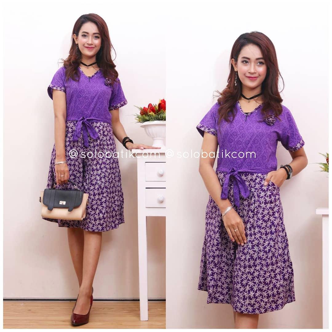 Contoh Baju Batik Wanita Modern Model Dress Batik Terbaru 2018 c78c20895d