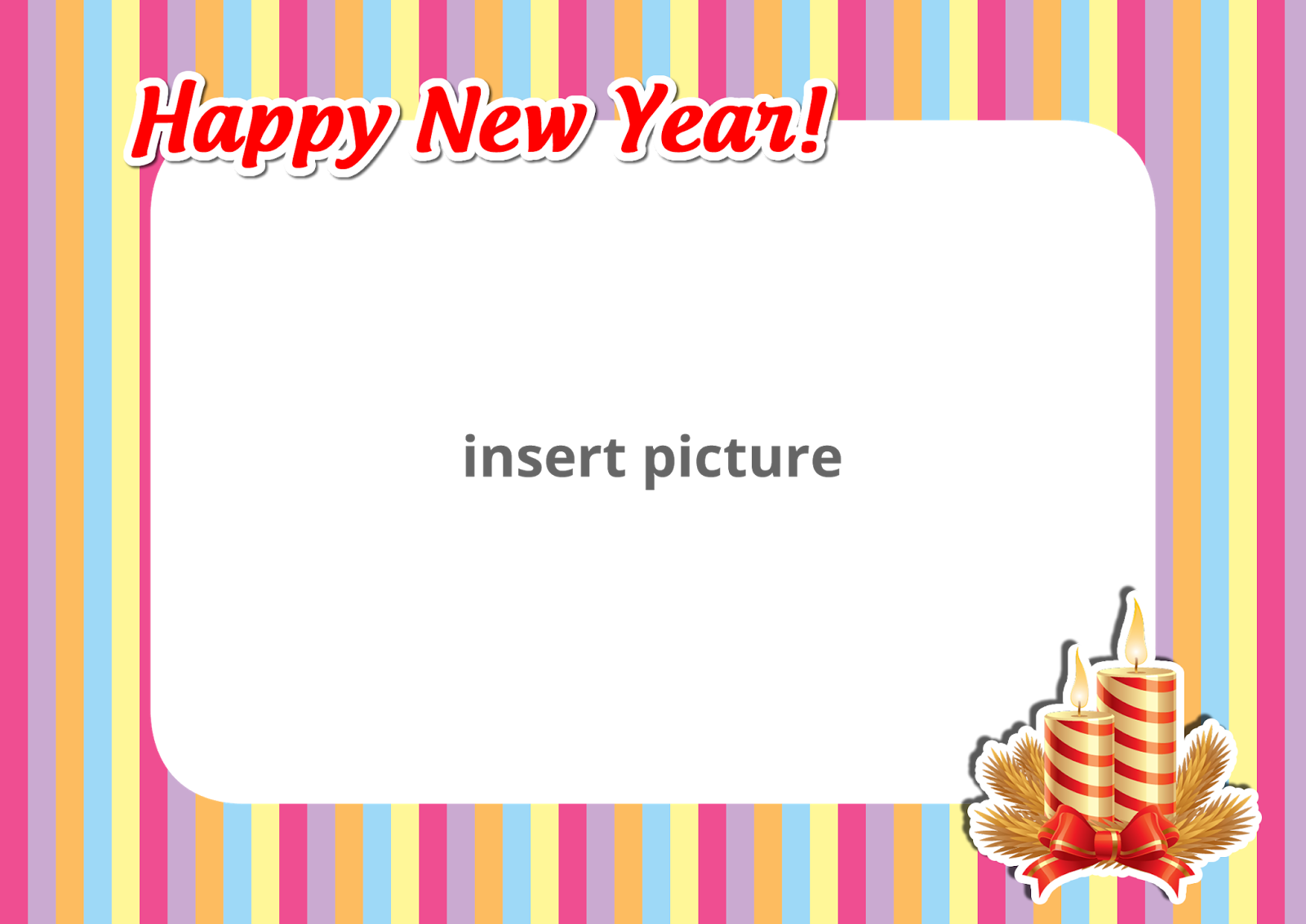 Happy new year stripe png frame printable png frames cartoon download now jeuxipadfo Gallery