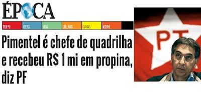Pimentel é chefe de quadrilha, afirma relatório da PF sobre governador de Minas