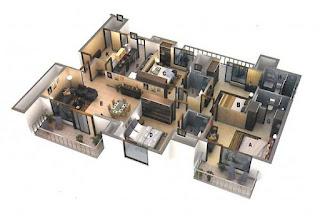 pelan rumah 3d
