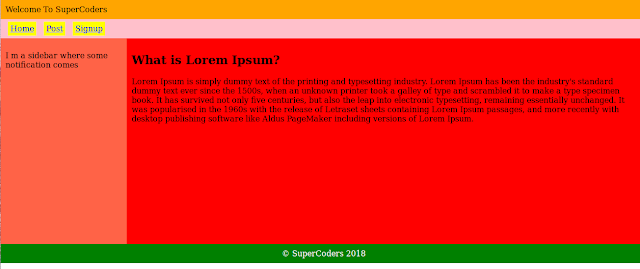 simple layout html