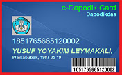 Kartu e- DAPODIK Card 2020