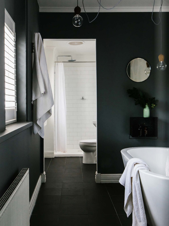 Black interiors inspiration by Hotze Eisma via @estemag