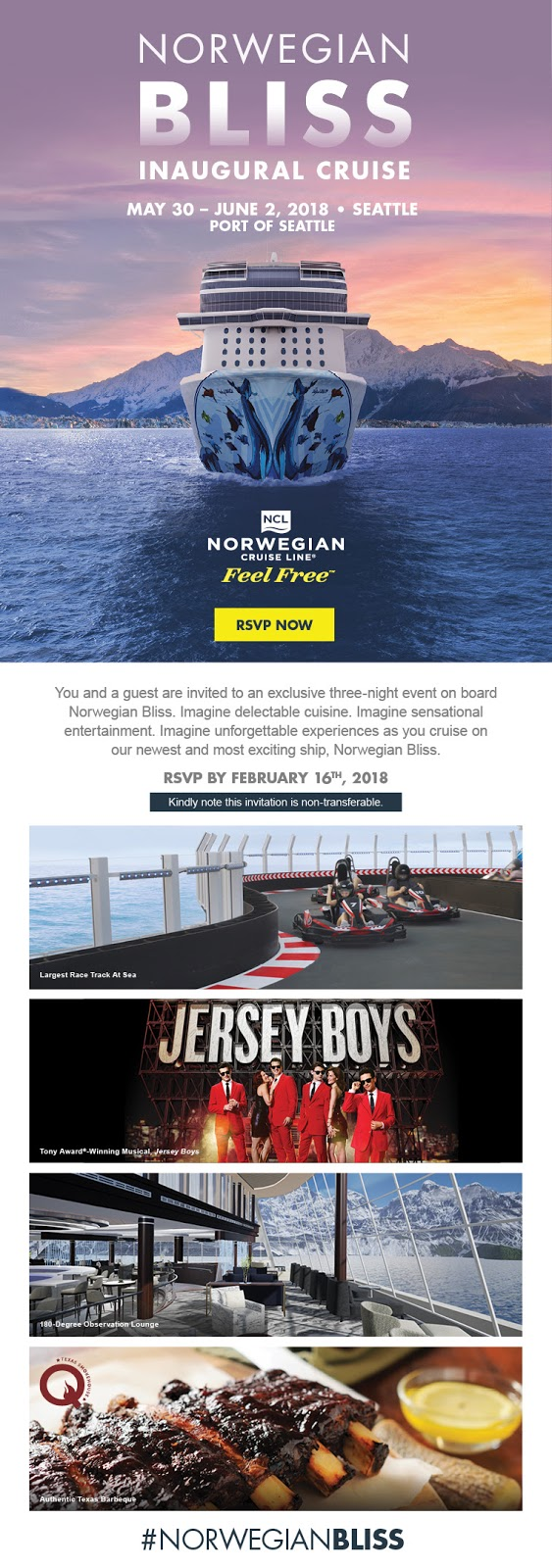 Press Trip on the Norwegian Bliss