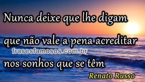 frases famosas de Renato Russo