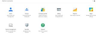 Google G Suite admin panel