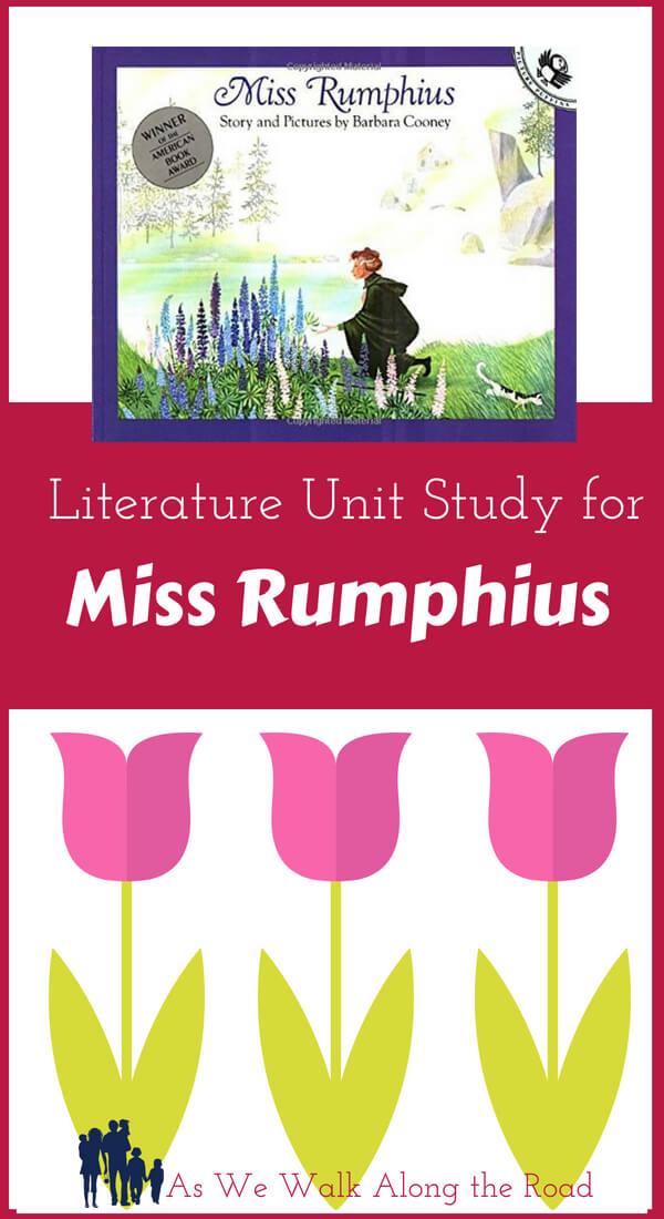 Literature unit study for Miss Rumphius