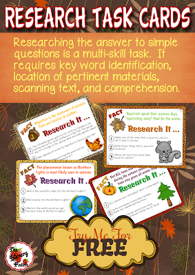 Fall Research Task Cards