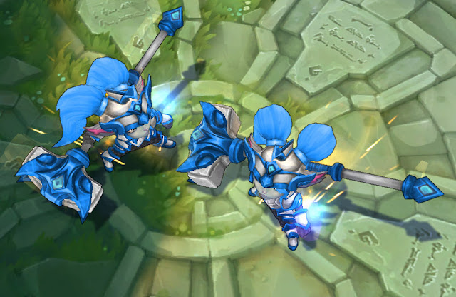 Mod Skin Poppy Battle Regalia Silver Blue