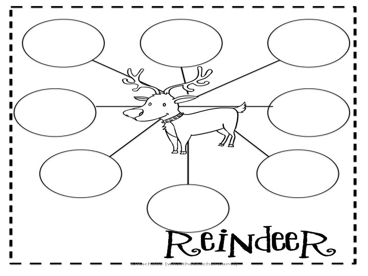 What the Teacher Wants!: Reindeer Graphic Organizers