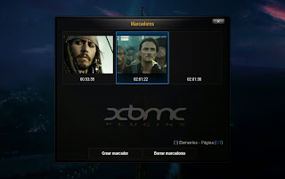 Marcadores en XBMC
