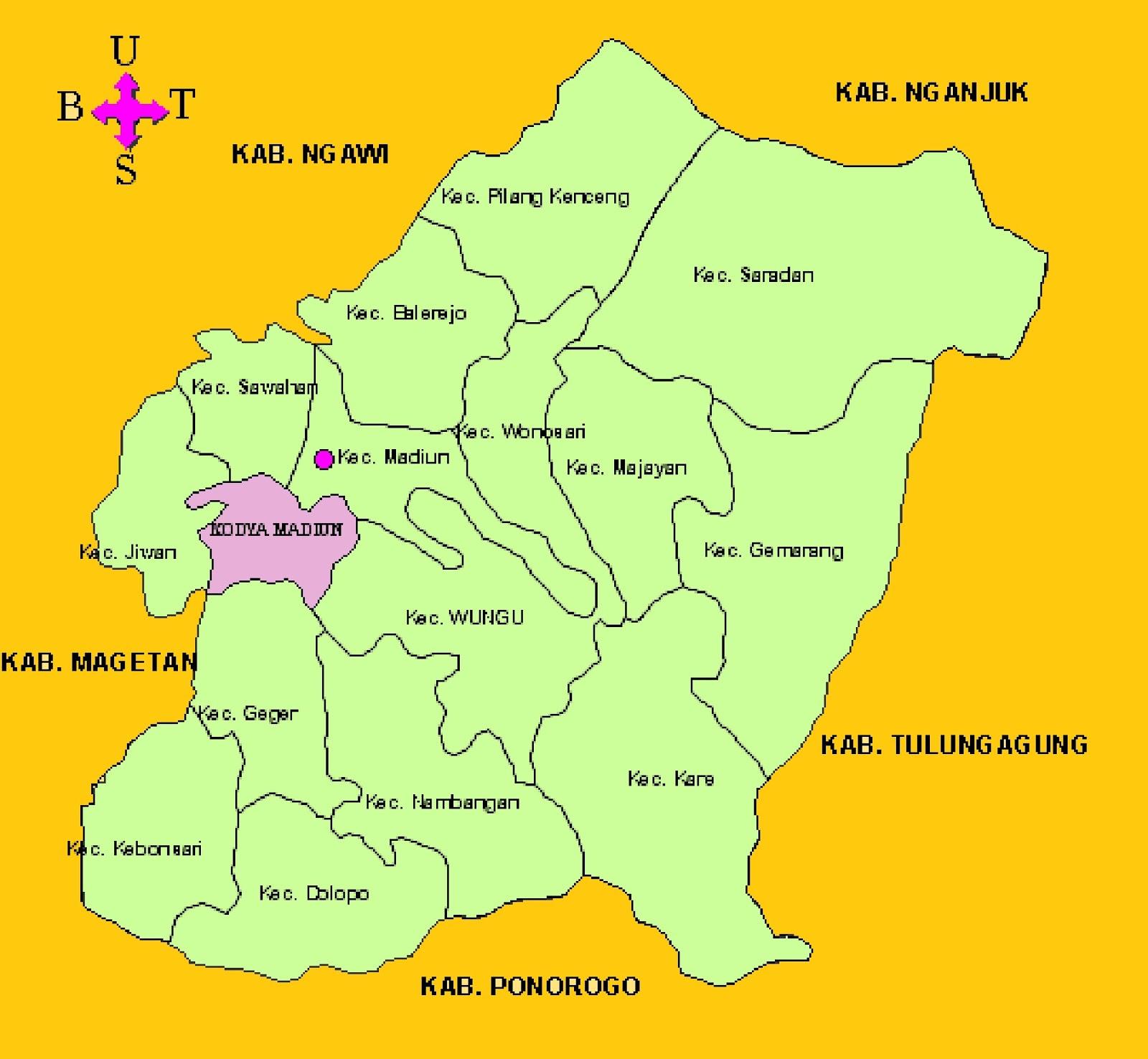 Peta Kabupaten Madiun