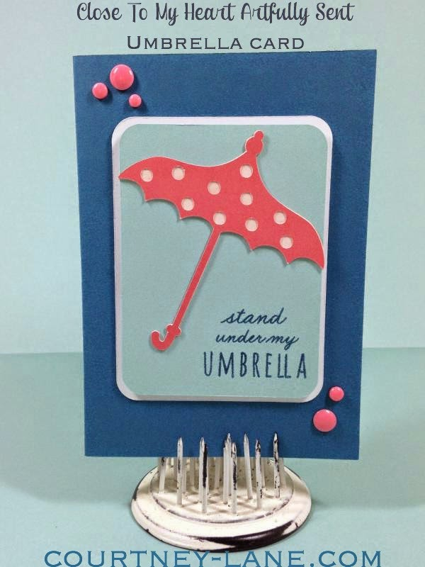 Close To My Heart Artfully Sent Cricut Cartridge Umbrella card